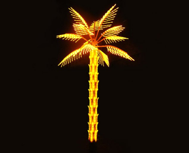 led palm trees yandecor