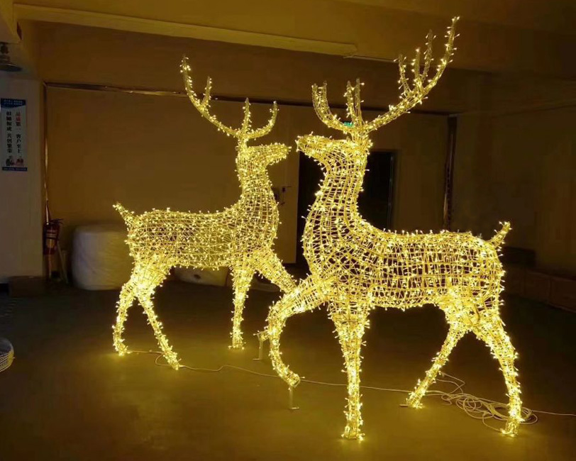 Led Christmas Decorations Indoor.Christmas Decorations Indoor Led Lighted Reindeer Yandecor