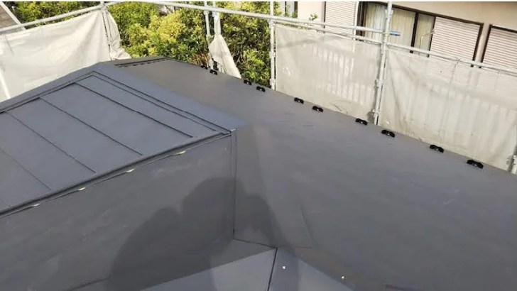 屋根張り替え工事の施工後の様子