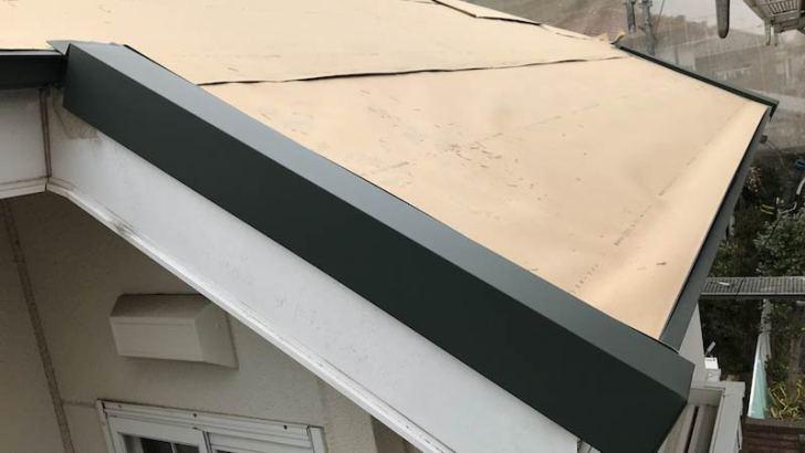 ケラバ水切りの施工
