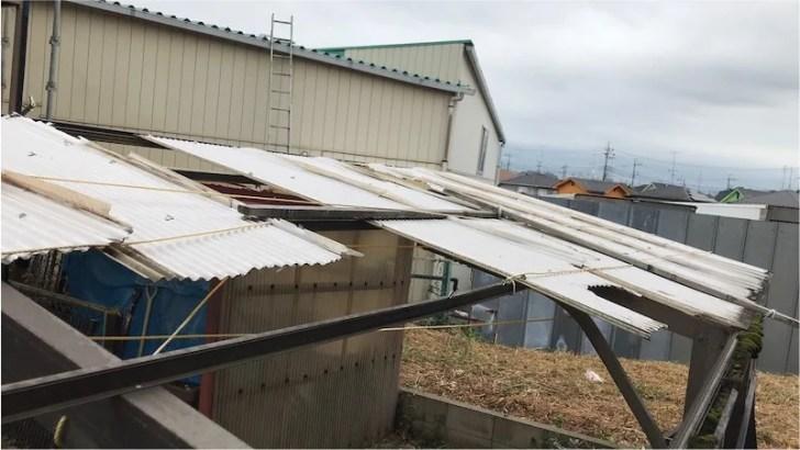 台風で壊れたカーポート
