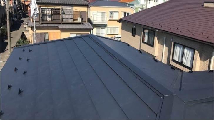 船橋市の屋根葺き替え工事の施工後の様子