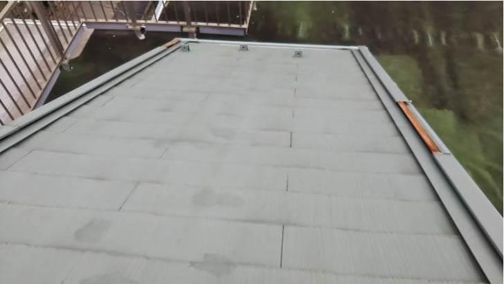 野田市の屋根リフォームの施工前の様子