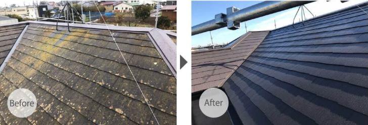 野田市の屋根塗装のビフォーアフター