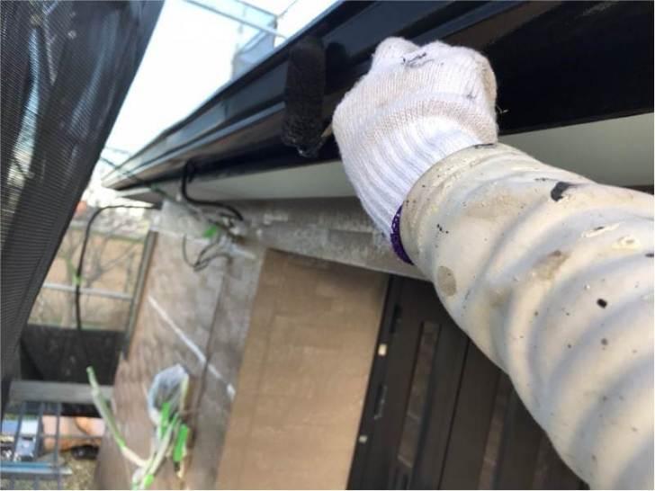 野田市の雨樋の塗装