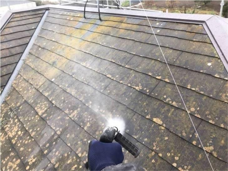 野田市の屋根塗装の高圧洗浄