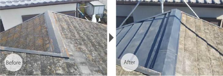 千葉市の屋根リフォームのビフォーアフター
