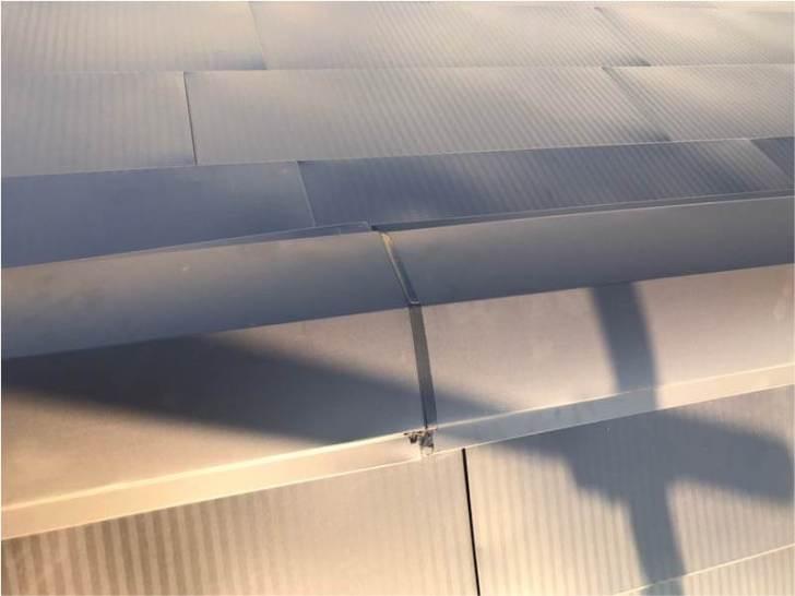 世田谷区の屋根リフォームの棟板金の設置