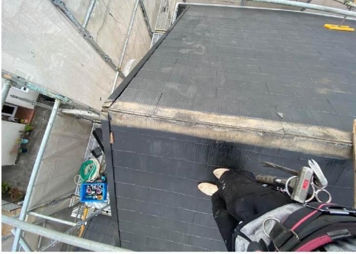 杉並区の屋根リフォームの棟板金の撤去・解体