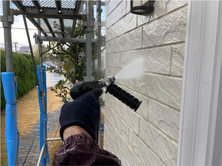 九十九里町の外壁塗装の高圧洗浄