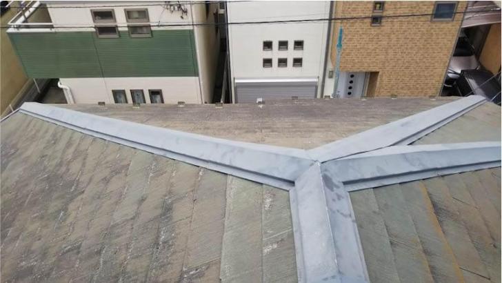 千葉市の屋根リフォームの施工前の様子