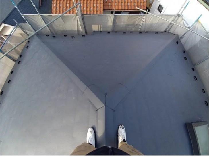 松戸市の屋根リフォームの施工後の様子