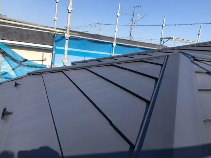 袖ケ浦市の屋根リフォームの施工後の様子
