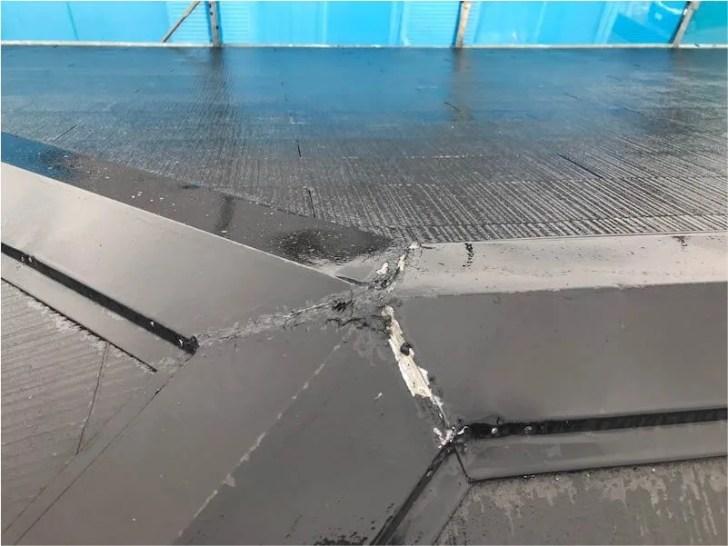 袖ケ浦市の屋根リフォームの施工前の様子