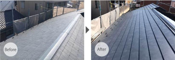 豊島区の屋根リフォームの施工事例