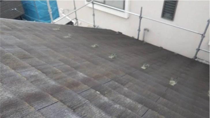 大田区の屋根塗装の施工前の様子