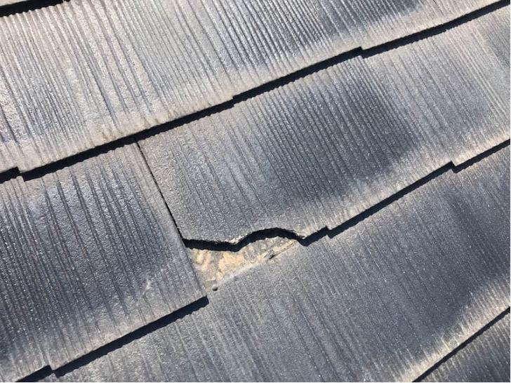 東大和市の屋根リフォームの施工前の様子