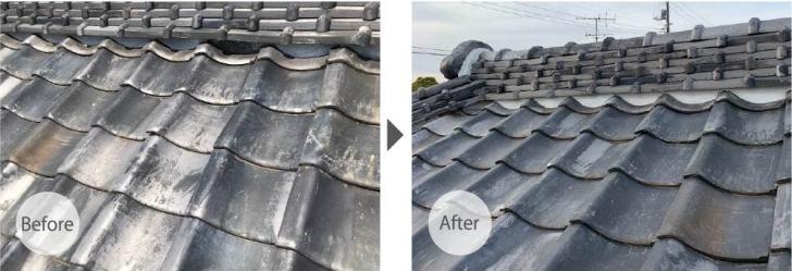 市川市の屋根修理のビフォーアフター