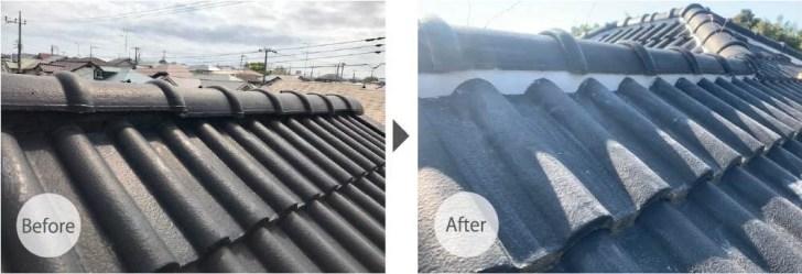 柏市の屋根修理のビフォアフター