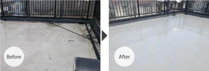 川崎市の屋上防水工事のビフォーアフター