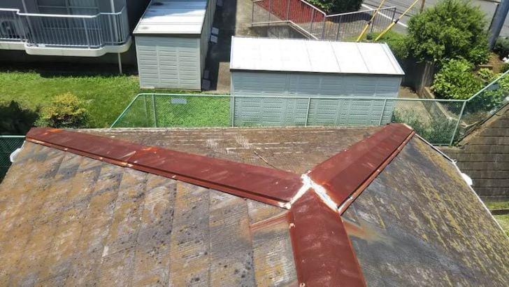 船橋市の屋根リフォームの施工前の様子