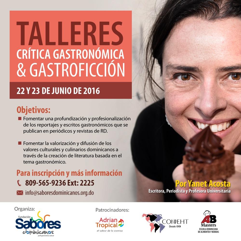 En República Dominicana para hablar de gastroficción y crítica gastronómica