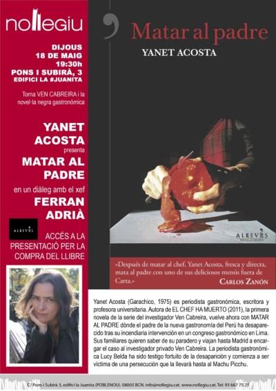 Matar al padre en Barcelona, Madrid y Tenerife. Presentaciones mayo y junio 2017