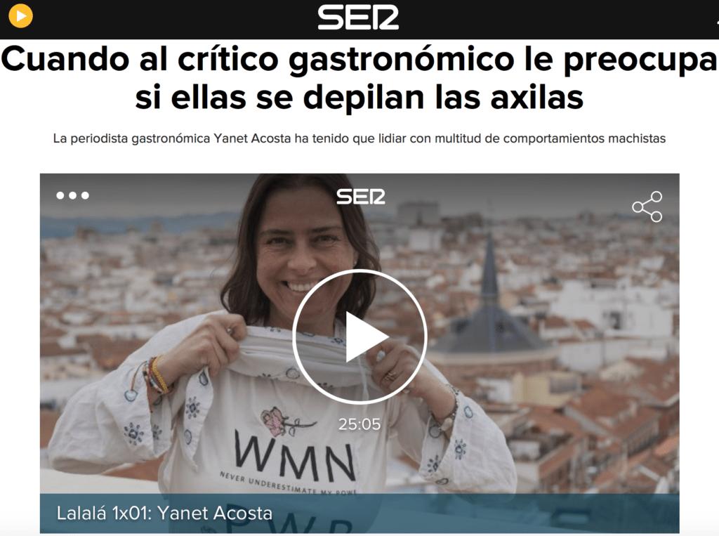 La escritora y periodista Yanet Acosta inaugura el nuevo programa Play Gastro Lalalá de la Ser dedicado a las mujeres de la gastronomía