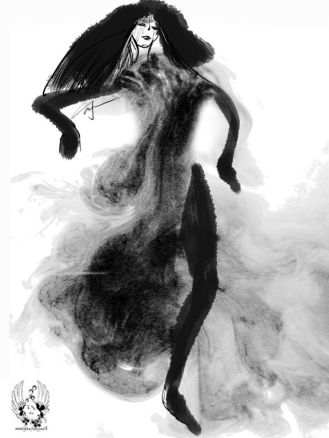 YAN FONG fashion illustration THE BEAUTY OF INK ART