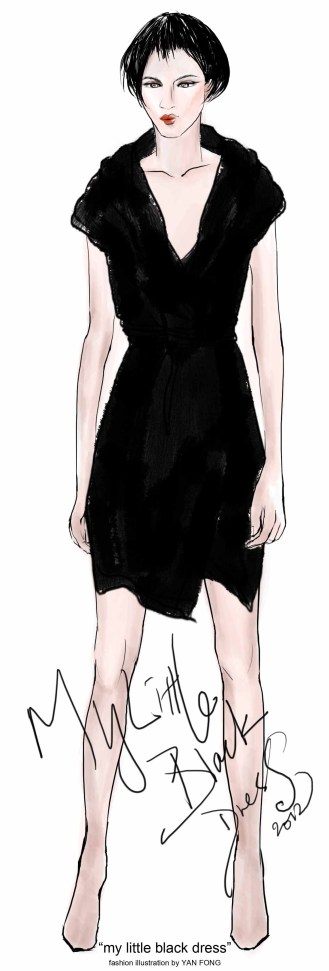 MY LITTLE BLACK DRESS fashion illustration by Yan Fong