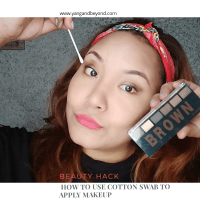 Beauty hack | How to use cotton swab to apply makeup