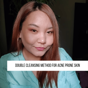 Is double cleansing good for acne prone skin?