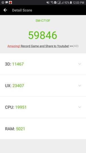 Samsung Galaxy J7+ Antutu