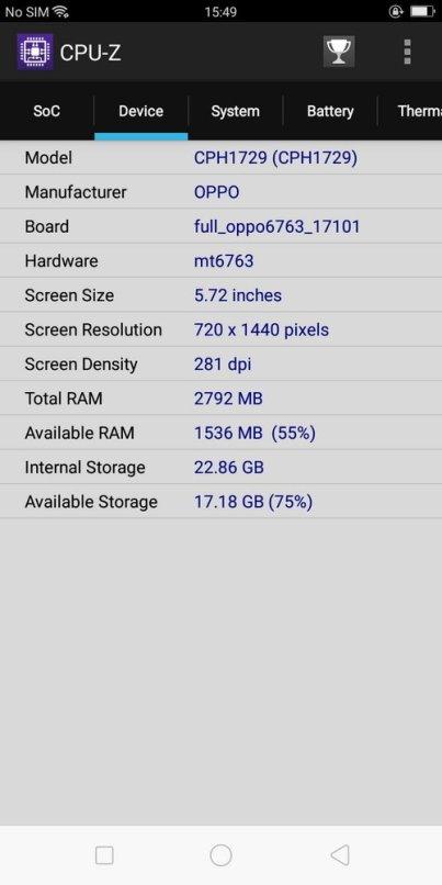 Oppo A83 CPU Z (2)