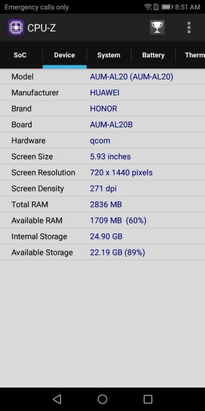 Honor 7A CPU-Z (2)