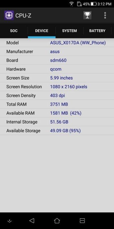 ZenFone 5Q CPU Z (2)