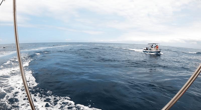 Sortie en mer sur bateau au large du Togo