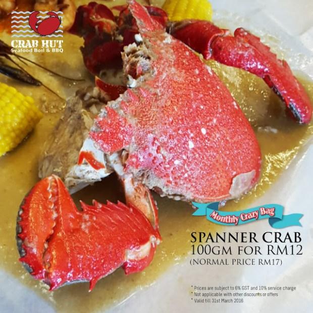 Monthly Crazy Bag ,Valid till 31st March 2016,  Spanner Crab
