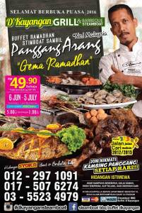 Buffet Ramadhan Steamboat sambil Panggang Arang