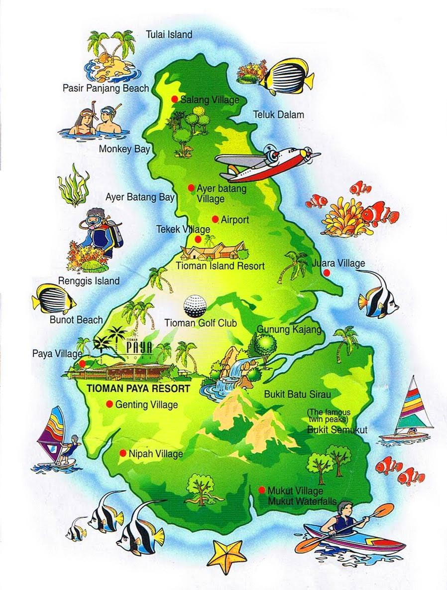 map Tioman