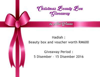 Christmas Beauty Box Giveaway Worth RM600 by Anil Wanina
