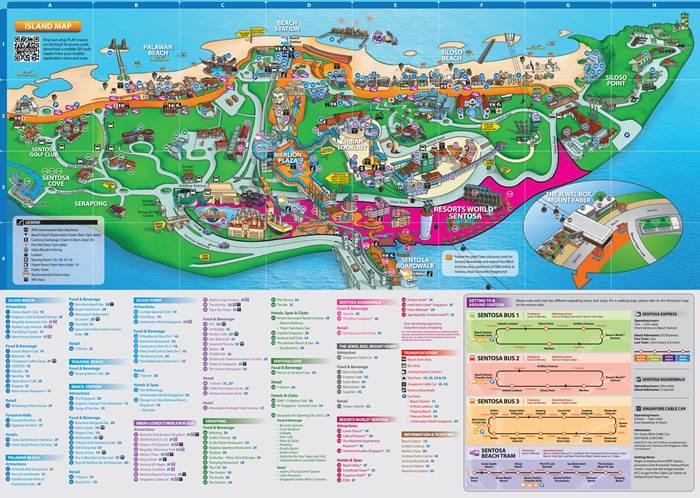 Peta Pulau Sentosa Singapore