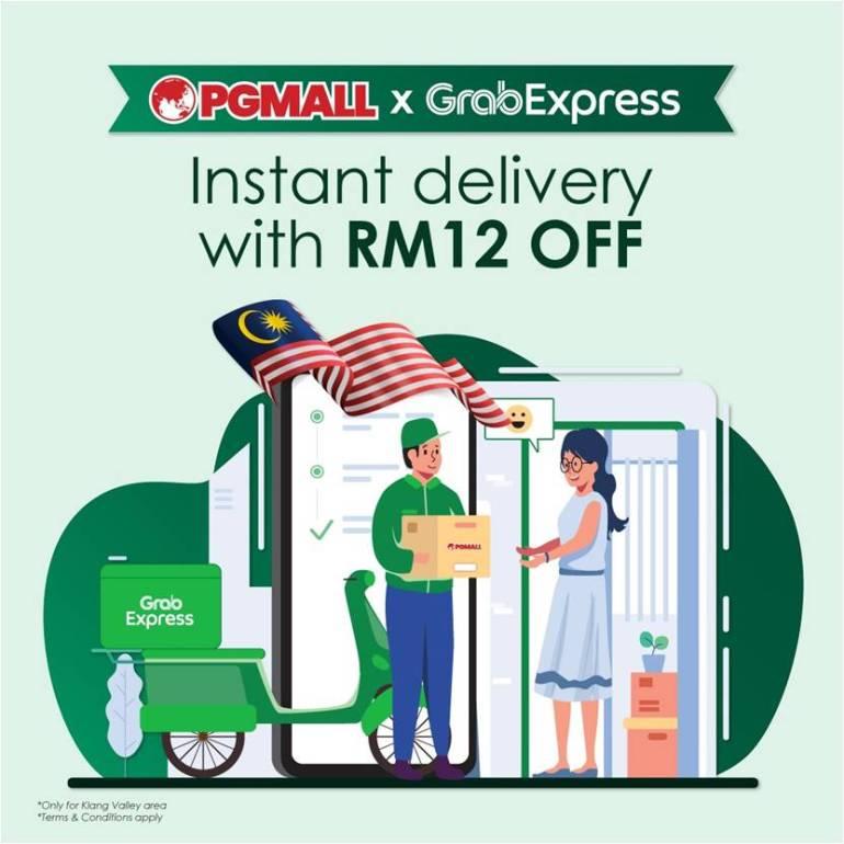 Kerjasama PGMALL dan Grab Express