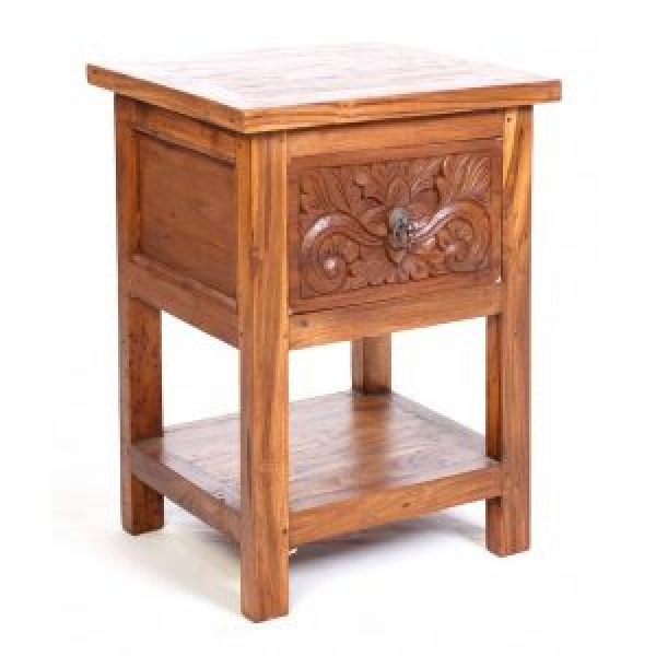 Carved Recycled Java Teak Table