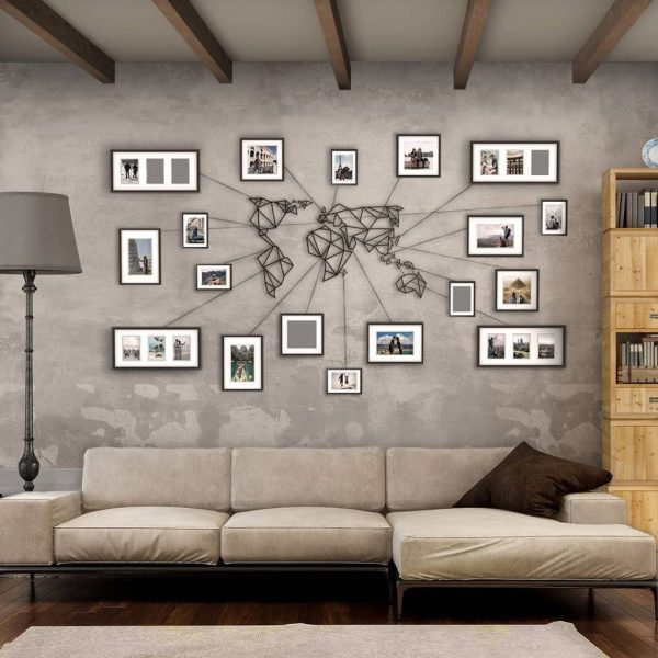 wd metal wall decor world map from hoagard