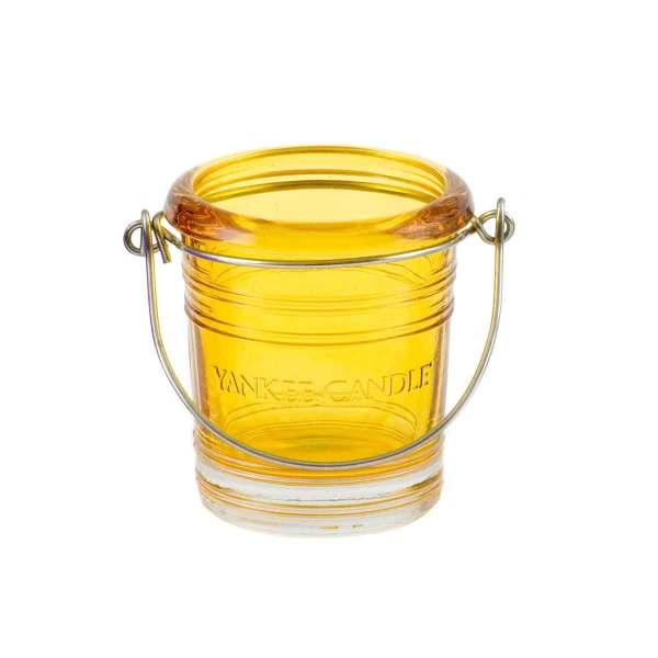 Yellow Bucket Votive Holder