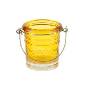 Yellow Bucket Votive Holder