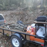 Trailer packed for bear camp