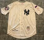 Mickey Mantle New York Yankees Home Men's Large Jersey HOF & 50th Patches