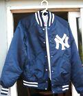 Vintage 1980's New York Yankees Starter Satin Bomber Baseball Jacket Medium